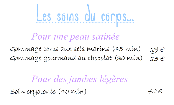 Soins corps 1